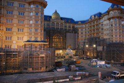 TDLの前のすごいホテル