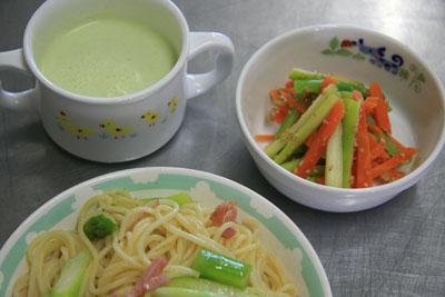 アスパラを使用した料理