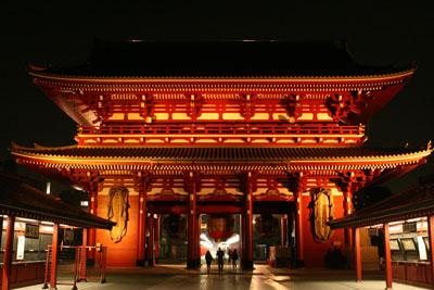 夜の浅草寺4