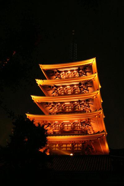 夜の浅草寺6