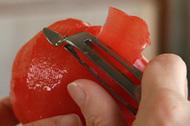 トマトの皮むき