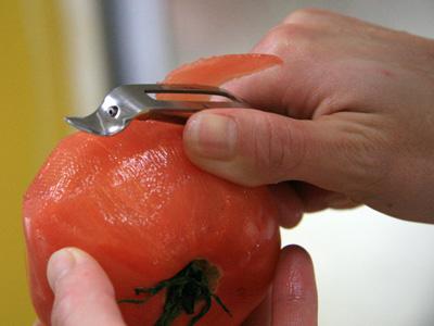 縦型トマトピーラー