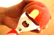 桃の皮むき