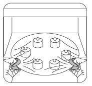 シリコンフィンガーミトンの使用例